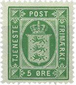 Danmark 1914-20 - AFA 14 tjeneste - Postfrisk