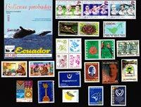Argentina, Bolivia, Chile, Ecuador, Peru, Uruguay - Frimærkepakke - Postfrisk