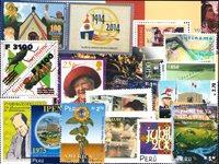 Guyana, Paraguay, Peru, St. Helena, Suriname - Frimærkepakke - Postfrisk