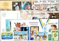 Anguilla, Aruba, Bahamas, Barbade, Belize - Paquetde timbres - Neufs