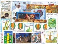 Aland, Albanie, Andorre, Bulgarie, Macédoine - Paquet de timbres - Neufs