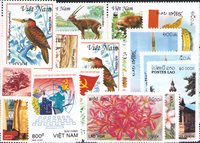 Laos, Liban, Vietnam, Yémen - Paquet de timbres - Neufs
