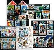 Sejlads - 4 frimærkepakker samlet