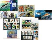Havets dyr - 5 frimærkepakker samlet