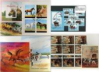 Chevaux - 3 paquets de timbres