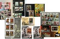 Kunst og kunstnere - 4 frimærkepakker samlet