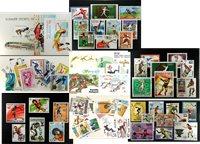 Athletisme - 6 paquets de timbres