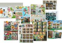 Fodbold - 9 frimærkepakker samlet