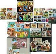 Animaux et oiseaux - 6 paquets de timbres