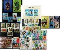 Edderkopper og insekter - 5 frimærkepakker samlet