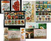 Frugter og svampe - 4 frimærkepakker samlet