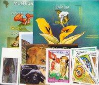 Tunisien, Zambia - Frimærkepakke - Postfrisk
