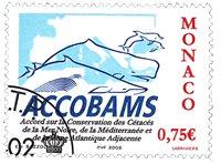 Monaco - Accobams - Stemplet frimærke