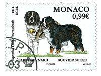 Monaco - Hundeudstilling - Stemplet frimærke