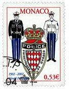 Monaco - Politistyrken - Stemplet frimærke