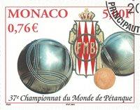 Monaco - Petanque - Stemplet frimærke