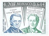 Monaco - Diderot & Littre - Postfrisk frimærke