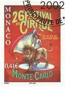 Monaco - Cirkusfestival 2002 - Stemplet frimærke