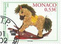 Monaco - Blomsterbinding - Stemplet frimærke