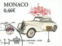 Monaco - Mercedes 1949 - Timbre oblitéré
