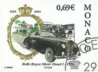 Monaco - Rolls Royce 1956 - Stemplet frimærke