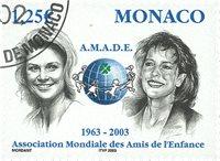 Monaco - AMADE 2003 - Stemplet frimærke