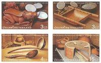 Thaïlande - Equipement de cuisine traditionnelle - Série neuve 4v