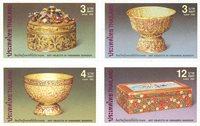 Thailand - Inventar i Vimanmek Mansion - Postfrisk sæt 4v