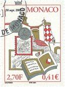 Monaco - Børsen 2001 - Stemplet frimærke