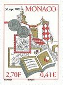 Monaco - Børsen 2001 - Postfrisk frimærke