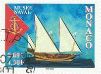 Monaco - Skibsmuseum - Stemplet frimærke