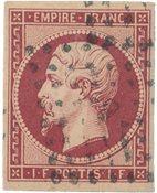Ranska (15) 1853 - YT 18 - Leimattu
