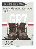 Andorre Français - Sentier GR7 - Timbre neuf