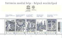 Belgien - Verdensarv - Postfrisk miniark