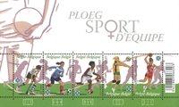 Belgique - Sport en équipe pour femmes - Bloc-feuillet neuf