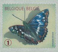 Belgien - Sommerfugl - Postfrisk frimærke fra rulle