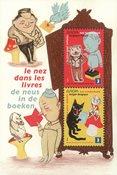 Belgique - Le nez dans les livres - Bloc-feuillet neuf