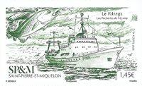 St. Pierre & Miquelon - Skibet Vikinger - Postfrisk frimærke
