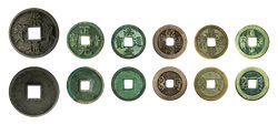 Kina 1149-1851 - Kejser-møntsamling - 6 originale mønter i træskrin