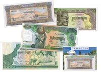 Cambodia 1957-1975 - 50, 100, 500, 1.000 Riels - 4 banknotes