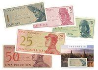 Indonesien 1964 - 1, 5, 10, 25, 50 Sen - 5 pengesedler