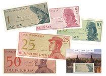 Indonésie 1964 - 1, 5, 10, 25, 50 Sen - 5 billets de banque