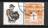 Danmark  - Rekl. 34 - stemplet