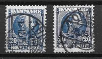 Danmark  - AFA 48+48a - stemplet
