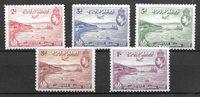 colonias británicas 1938 - Mic. 107-111 - Nuevo con charnela