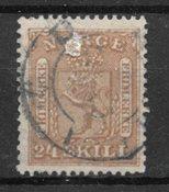 Norvège 1863 - AFA 10 - Oblitéré