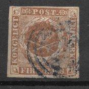 Danemark 1854 - AFA IIIc - Oblitéré