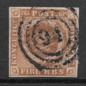 Danemark 1854 - AFA IIIb - Oblitéré