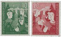 Republique Fédéraled'Allemagne 1952 - Michel 153-154 - Neuf