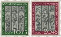 Republique Fédéraled'Allemagne 1951 - Michel 139-140 - Neuf